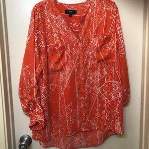 Blouse -Tunic Orange Color Size L